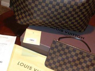 Louis Vuitton Damier Ebene Canvas Neverfull MM N41358
